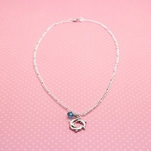 Jewelry - Dolphin Chain Necklace with Swarovski beads.